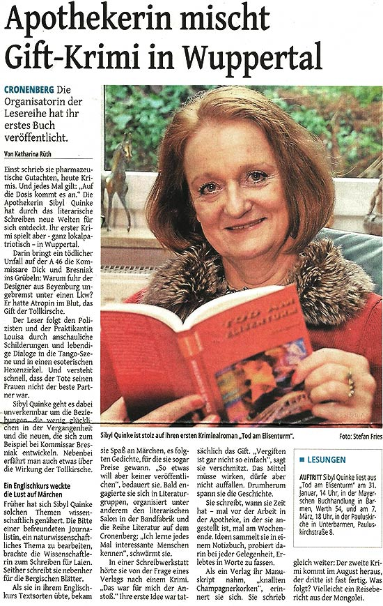 Artikel in der Westdeutschen Zeitung